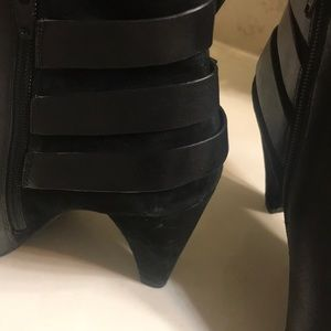 Gianni Bini Shoes - Black leather & suede bootie